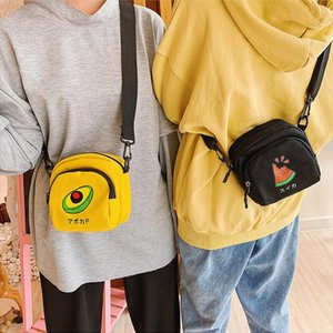 2020 Crossbody Bags for Women Korea Style Canvas Shoulder Bag Japan Harajuku Girl Cute Fruit Student Small Purse Phone Bag Beach