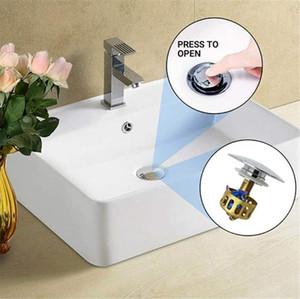 ABD STOK Evrensel lavabo lavabo sıçrama tahliye filtresi, Pop Up Banyo Lavabo Tak ile Sepeti Tahliye Evrensel Boyutu Lavabo Durdurucusunu Tahliye