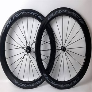 60mm white carbon wheels clincher tubular carbon wheelset road bike Red bicycle wheelset