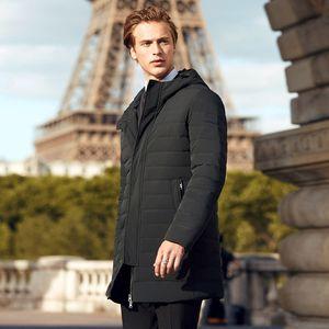 BOSIDENG Herren-weiße Gänsedaunen Mode lässig Jacke Geschäft lange beschichten unten Winterverdickung warmen Parka B70133003 201021