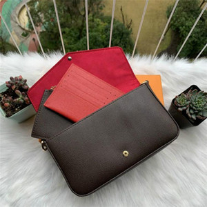 2021 Горячие известные сумки бренда сумки сумки сумки дизайнер женские сумки высокого качества комбинированные сумки из трех частей на плечо с коробкой