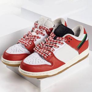 Quadro Skate X SB Dunks Sapatos Low Running Habibi Branco Red Unisex Skate Sports Sapatilhas Designadas Pré-venda CT2550-600 com caixa