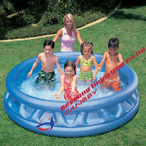 """Intex 74"""" soft side pool round inflatable garden swimming pool for kiddie,adult"""