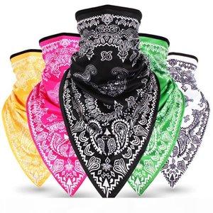 2019 Fashion Hip Hop Design Cashew Flower Triangle Magic Scarf Bandana Street Skateboard Face Mask Neck Scarf Bicycle Scarf Mask Wholesale