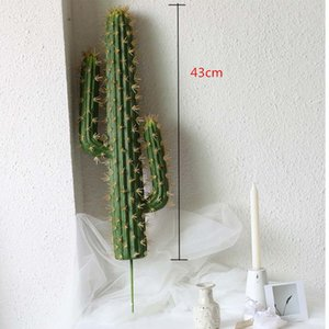 43cm Artificial Cactus Plants Indoor Tropical Fake Potted Art Landscaping Hotel Living Room Home Christmas Decor Photo Props 1029
