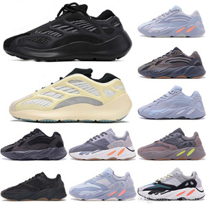 Sconto 700V3 Azael Bianco Glow Mens Kanye West Carbon Luminoso 700 V3 Runner Runner Sport Sneakers Sneakers Scarpe con scatola taglia 36-47