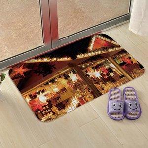40*60cm Christmas Carpet Kitchen Mat Bedroom Entrance Doormat Living Room Home Floor Decoration Bathroom Non-Slip Rug