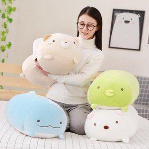 Cute Cartoon Bolsters, Ornament Plush 28cm Gift Birthday Dolls Stuffed Pillows, Animal Kid Dinosaur,Penguin,Cat,Bear For Girl Christmas Mwdx