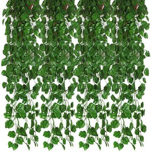 12Pcs Artificial Ivy Garland Leaf Vines Plants Greenery Hanging Fake Plants for Wedding Backdrop Arch Wall Jungle Party