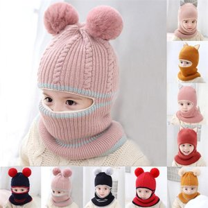 Pompom Children Knitted Baby Boys Hat with Warm Fleece Lining for Kids Girls Winter Hats