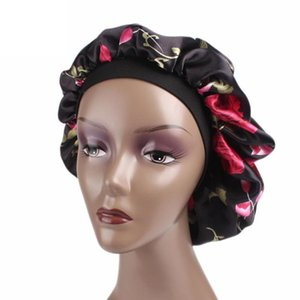 Confortable nuit de sommeil Chapeau doux soie cheveux Bonnet Avec Salon Coloring HairLoss Couleur Mise en évidence large bande Cap Hairstyling S0G4