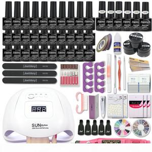 Super Manicure Set Acrylic Nail Kit with 120 54W Nail Lamp Set Manicure Machine 20 30 PCS Gel Polish Art Tool