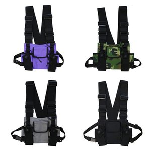 Adjustable Chest Rig Bag Vest Hip Hop Functional Tactical Harness Chest Rig Pack Waist Bags Streetwear Q0109