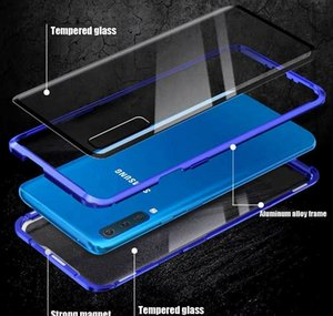 360 Magnetic Metal Adsorption Phone Case For Samsung S20 Plus Case Galaxy S8 S10 Plus Double Side Glass Full T jllSLS infant2005