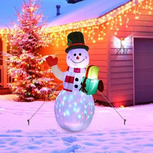 1.5m LED Illuminated Inflatable Snowman Air Pump Night Lamp Christmas Decoration