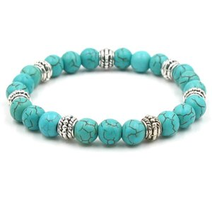 Green Femme Stone Men Quality Natural Blue Charms Beads White Bracelet Homme Women Bracelets Strand Red New Turquoises Yoga High tsetPWX