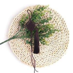 5pcs Knots cinese nappe manmade gioielli fai da te casa tessuto tenda indumenti accessori decorativi ciondolo nasselli nappe h bycile