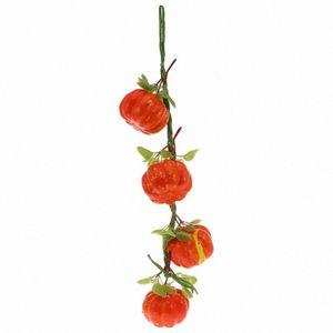 Hanging plastica Ciondolo artificiale vegetale accessori per la cucina decorazione creativa di layout decorativo puntelli del partito (4 teste di zucca Dall #