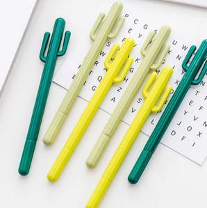 Pen Neutre Creative Petit frais Desert Cactus Styling Pen Corée du Sud Stationery Cartoon mignon stylo gel à base d'eau des étudiants GWD2380