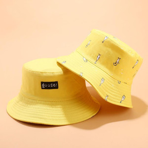 2020 Cotton Print double sided wear Bucket Hat Fisherman Hat outdoor travel Sun Cap Hats for Men and Women 39
