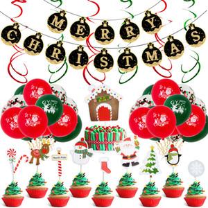 12 inç Yuvarlak Lateks Noel Balonlar Noel afiş Parti Dekorasyon Sahne Noel balonlarla Alüminyum Malzemeleri Film