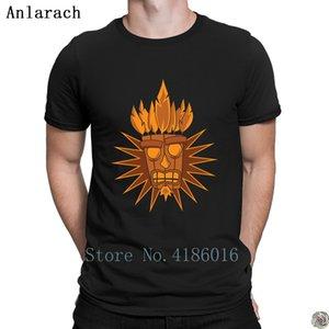 Aku Máscara Anlarach Traje Para Estilo Personalizado Popular Camiseta Simples Novidade Homens Algodão Top Famoso Verão Verão T-shirt FPONE