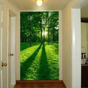 Drop Shipping Custom 3d Mural Vertical Version Entrance Corridors Background Wallpaper Idyllic Natural Scenery Wallpaper Mural