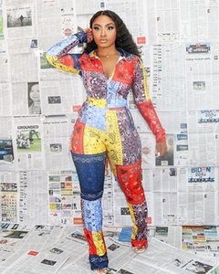 Felyn 2020 Ins Internet Celebrity Famous 3 pcs Women Set Print Jacket Bikini Tops Long Pants Sexy Party Outfits X0923