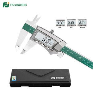 Fujiwara 0-150mm Display digitale Calibro in acciaio inox 1/64 frazione / mm / pollici LCD Electronic Vernier Caliper T200602