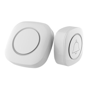 New Arrival White Wireless Doorbell Battery Powered Dust-proof 32 Tune Song Home Cordless Door Bell Smart Security Chime EU Plug
