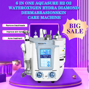 Aquasure H2 hydrafacial machine H2O2 BIO skin lifting Deep cleansing galvanic hydra facial device (Can choose 6 in 1 or 3 in 1)