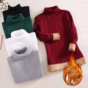 2020 New Winter Women Plus Velvet Thick Warm Turtleneck Slim Cashmere Sweater Female Fleece Knitted Pullovers Sueter Mujer E60