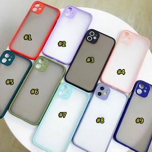 Matte Clear Thone Case Transparent Skin Sientir Protector de cubierta trasera para iPhone 12 Mini Pro Max 6.7 11 x XS XR XS MAX 7 7P 8 8PLUS