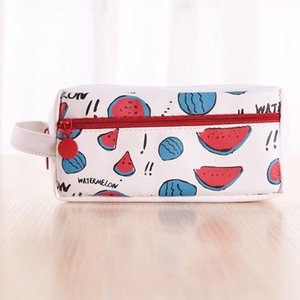 Portable Fruit PU Pencil Case Cute Pen Bag Stationery School Office Supplies Kids Storage Bags