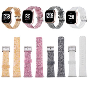For Fitbit Versa 2 Strap 22mm Smart Watch Bling Glitter Soft Wrist Band For Fitbit Versa Replacement Bracelet