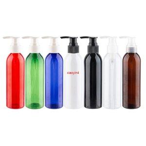 12 adet 250 ml Pet Losyonu Pompa Şişeleri 7 Renkler Kozmetik Şişesi Kişisel Bakım Şampuan Konteyner için Yüksek Kaliteli Plastik Bottlegood Paket