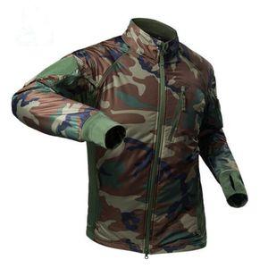 Men's outdoor ultra light waterproof raincoat camouflage top spring autumn horse hiking military training hot air block tactical coat
