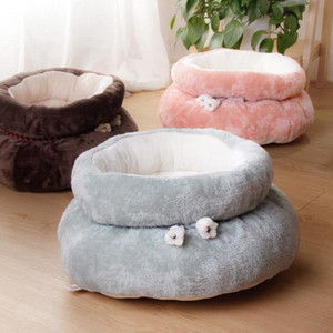 Letto per cani Cat Bed Cuscino Cuscino Donut Coccole per Piccolo cane Cat Migliorato Sleep Impermeabile Bottom