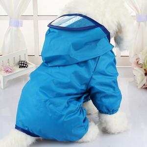 Marke mit Kapuze Haustierhund Regenmäntel Wasserdichte Kleidung für kleine Hunde Chihuahua Yorkie Dog Raincoat Poncho Welpen Regenjacke XS-XXL T200328