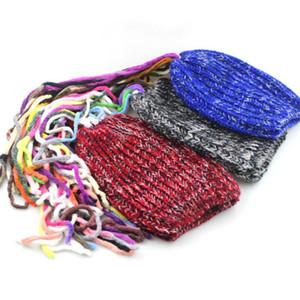 Casquillos unisex invierno Reggae Gorro de lana sucia peluca cráneo Cap confeti Moda Gorros creativo señoras de la borla de la peluca Dreadlocks sombrero de las lanas de los hombres de LY10221