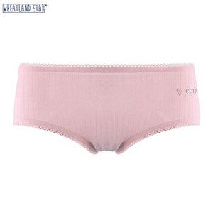 Wheatland Star Ropa interior bragas de las mujeres algodón suave ropa interior de las mujeres Panty de mediana altura 5 colores 2020 Hot Cozy Cozy Panty T200420