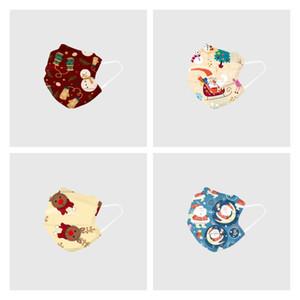 estilo de Navidad máscaras bucales diseñados para niños y adultos máscara facial desechable con tres capas de máscaras de Navidad T3I51226