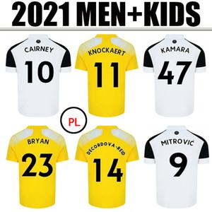 20 21 Mitrovic Cairney Soccer Jerseys 2020 2021 Knockert Seri Lemina Anguissa Casa Away Yellow Men + Kid Kit