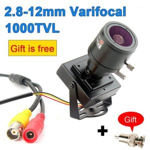 1000TVL Mini telecamera Varifocal Mini fotocamera 2.8-12mm Lente regolabile + RCA Adapter Sicurezza Surveillanza CCTV Camera per auto Sorpasso 4