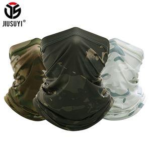Jiusuyi camuflaje cuello transpirable gaitero diadema elástico tubo bufanda multicam media cara cubierta bandana balaclava mujeres hombres nuevo 201026