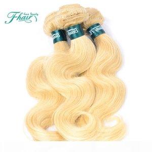 Cabelo Factory Outlet brasileira Humano Linha 3 Pacotes Loiro Humano Tece cabelo brasileiro 7A grau de cor 613 Cabelo Louro