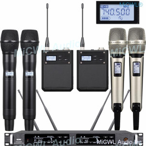 High-end 300 Channel ULXD Digital Wireless Systems Dual Handheld Headset Microphone True Diversity unrivalled Digital products
