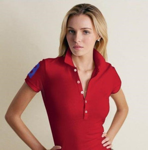 2021 NEW authentic womens small horse polo Hot women 100% polos Fashion casual polos sleeve shirt for women polos M-XXL