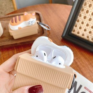 Designer Carton cat typeAirPods case trendy bluetooth earphone protective cover New silicone for AirPods1 2 Pro 3 case