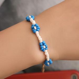 Luokey 2021 Korean Fashion Seed Beads Bracelets For Girls Colorful Handmade Weave Miyuki Beaded Flower Women Student Bracelets